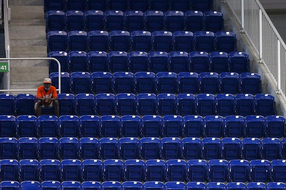 Scenes like this from Marlins Park are not uncommon. (Getty)