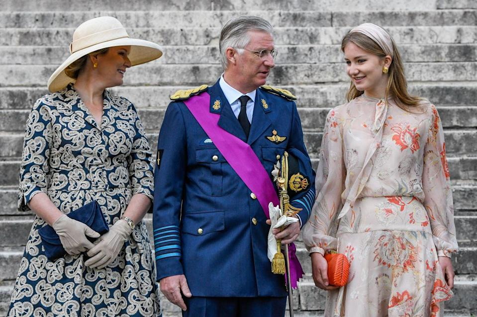 <p>When the service finished, the royal family took their face masks off to depart.</p>