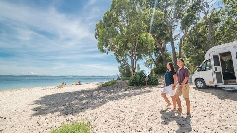 This camping spot is at a BIG4 Park in Koala Shore, Port Stevens. Source: Destination NSW
