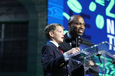 St. Jude patient Owen announced second round pick for Seattle Seahawks, Credit Steve Luciano