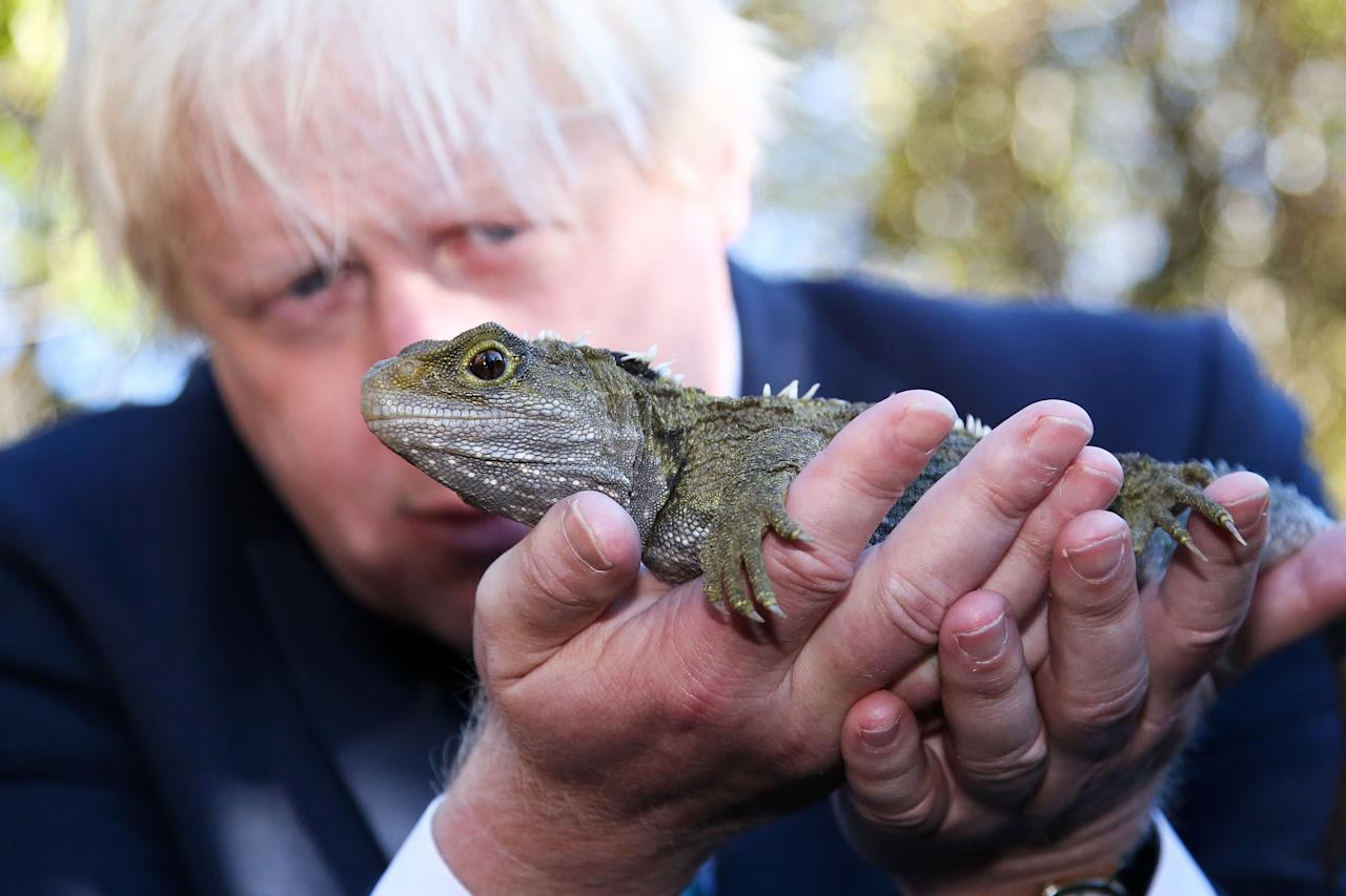 <p></p><p>Foreign Secretary Boris Johnson meets a local during a visit to New Zealand. (Getty Images) </p><p></p>