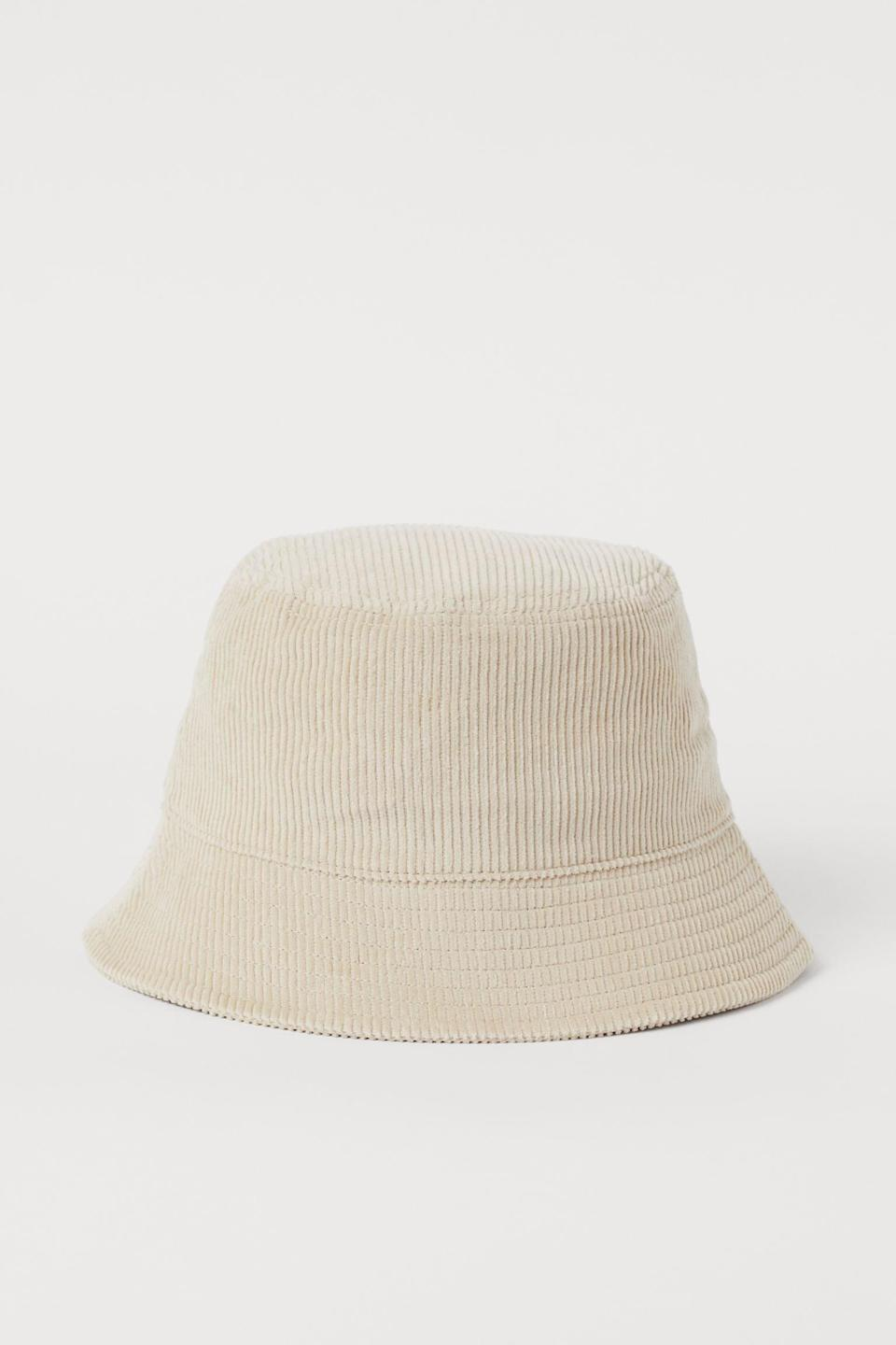 <p>The neutral color of this <span>H&amp;M Woven Bucket Hat</span> ($13) makes it the most versatile accessory you'll have in your closet.</p>