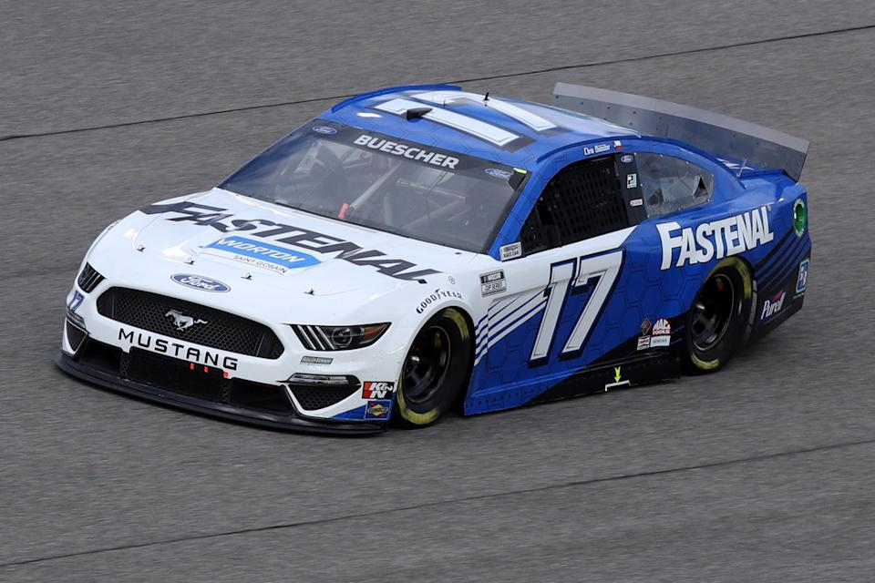 HOMESTEAD, FLORIDA - FEBRUARY 28: Chris Buescher, driver of the #17 Fastenal Ford, drives during the NASCAR Cup Series Dixie Vodka 400 at Homestead-Miami Speedway on February 28, 2021 in Homestead, Florida. (Photo by Sean Gardner/Getty Images)
