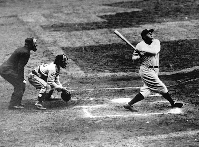 The bat used to hit Babe Ruth's 500th career home run in 1929 was sold for more than $1 million on Saturday in Southern California. (AP)