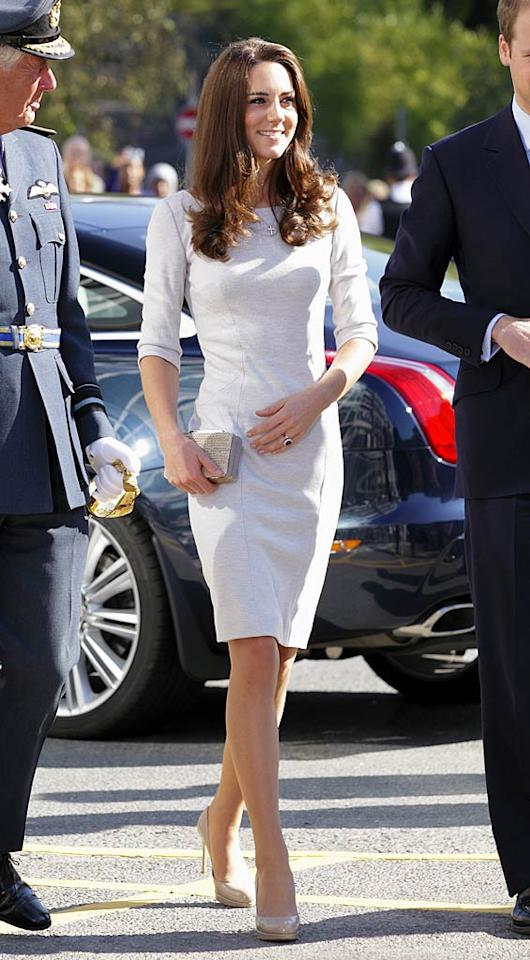 Catherine, Duchess of Cambridge (in a gray felt Amanda Wakeley dress) ... 'nuff said.  Indigo/GettyImages.com - September 29, 2011