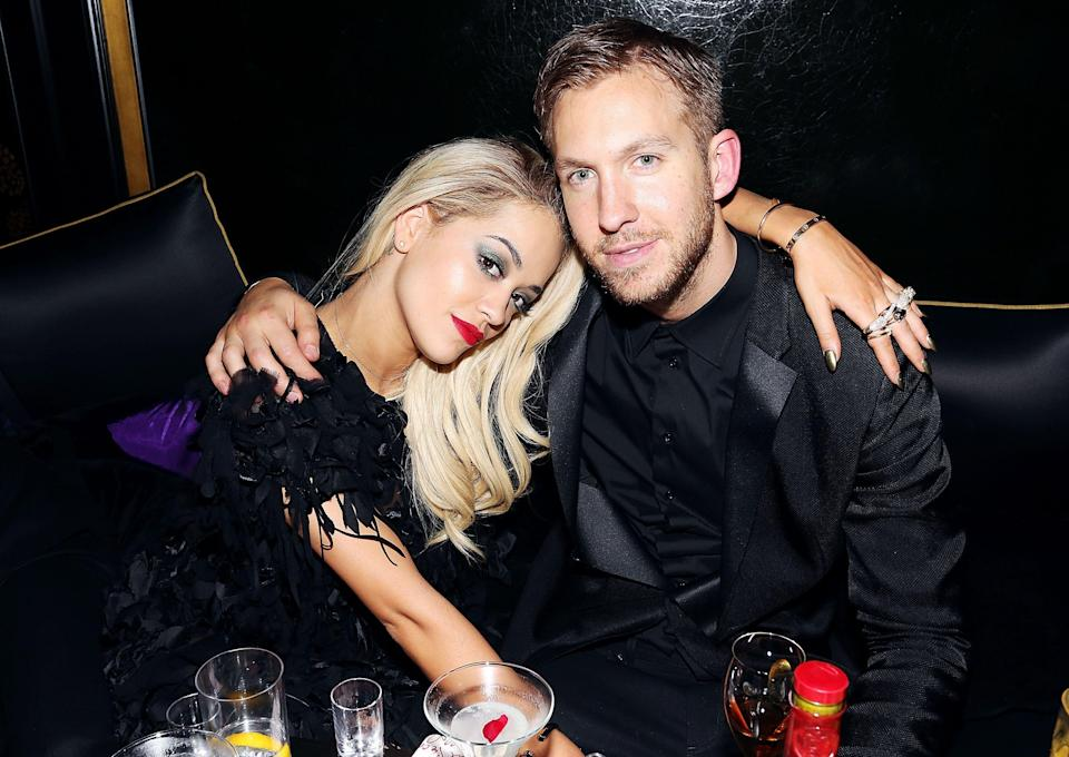 Back in the day: Rita Ora and Calvin Harris attend the Three Six Zero and Nokia MixRadio Party at Hakkasan on February 19, 2014 in London, England. (Photo by David M. Benett/Getty Images for Three Six Zero-Nokia MixRadio)