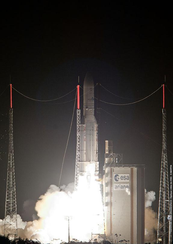 European Rocket Launches British and Mexican Satellites
