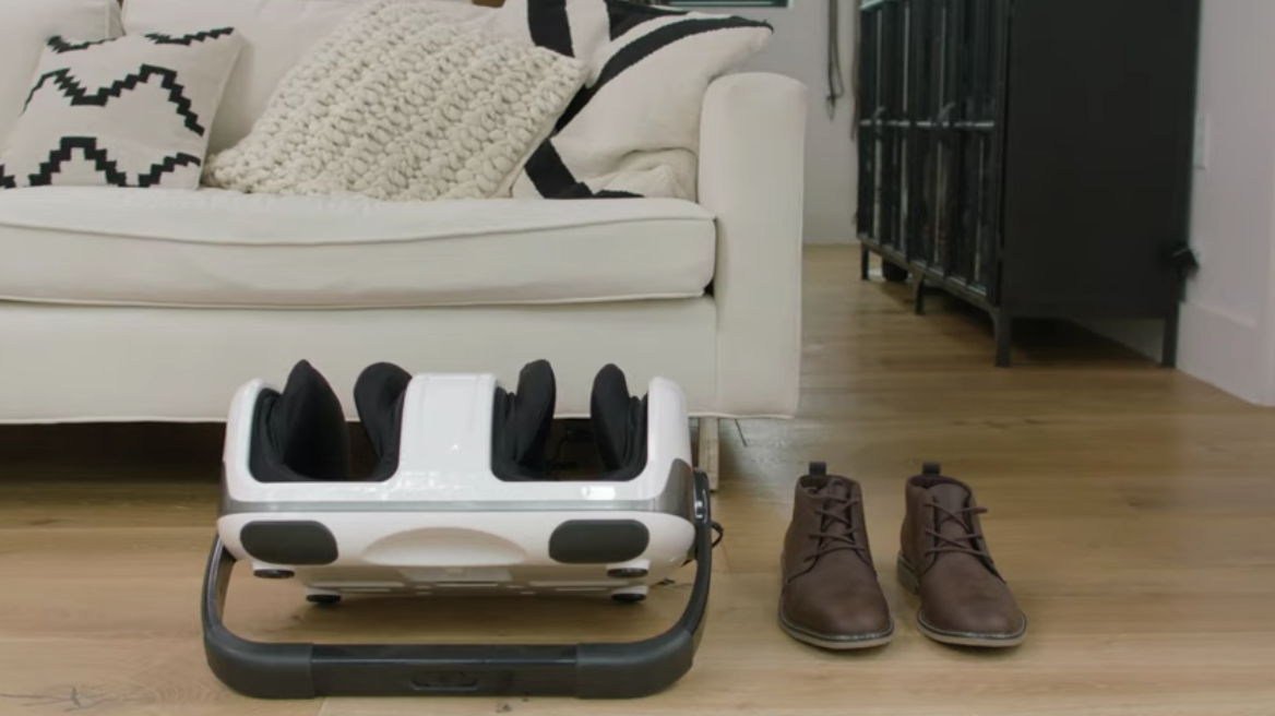 The Cloud Massage Shiatsu Foot Massager can even blend in with your decor! (Photo: Cloud Massage)