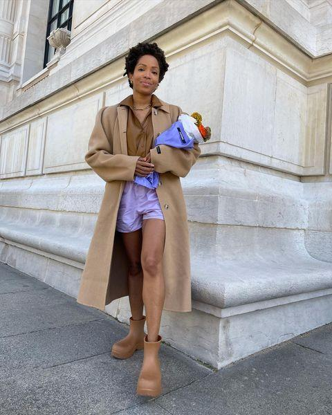 """<p>We love how Slip Into Style's Ellie Delphine has added these lilac shorts to her all beige ensemble. </p><p><a class=""""link rapid-noclick-resp"""" href=""""https://thepangaia.com/products/lightweight-organic-cotton-shorts-orchid-purple"""" rel=""""nofollow noopener"""" target=""""_blank"""" data-ylk=""""slk:SHOP LILAC SHORTS NOW"""">SHOP LILAC SHORTS NOW</a></p><p><a href=""""https://www.instagram.com/p/CNPUDRwBGPN/"""" rel=""""nofollow noopener"""" target=""""_blank"""" data-ylk=""""slk:See the original post on Instagram"""" class=""""link rapid-noclick-resp"""">See the original post on Instagram</a></p>"""