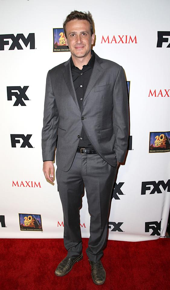 SAN DIEGO, CA - JULY 19:  Actor Jason Segel attends the Maxim, FX and Home Entertainment Comic-Con Party on July 19, 2013 in San Diego, California.  (Photo by Chelsea Lauren/WireImage)