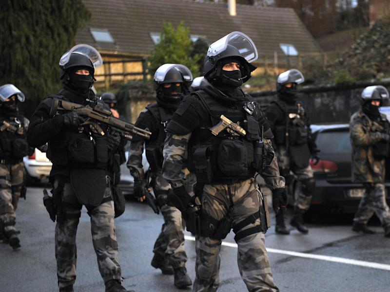 Ten people were arrested over the weekend across France, including in the region of Paris and the island of Corsica (file image): FRANCOIS LO PRESTI/AFP/Getty Images