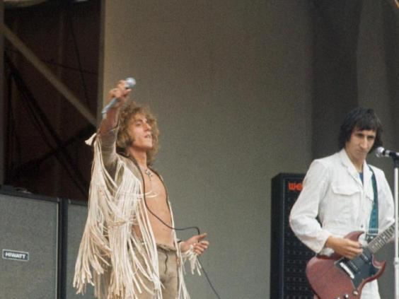 Encore: The Who, performing at the Isle of Wight in 1969, were back for more 12 months later (Rex)