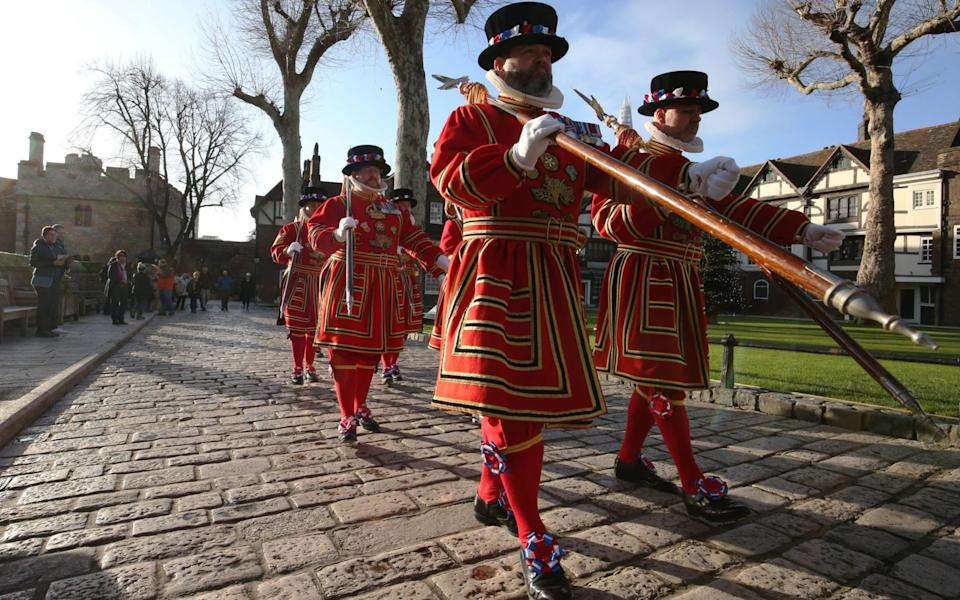 Yeoman Warders (more commonly known as Beefeaters), as they reportedly facing redundancies for the first time in their long histor - Jonathan Brady/PA Wire