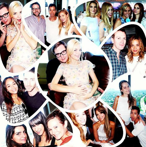 "The 34-year-old actress was feted by her A-list pals like  Selma Blair, Jessica Alba, Jared Eng, Claudia Lee, Ashley Madekwe, and fellow soon-to-be parents Teresa Palmer and fiance Mark Webber. Naturally, King made a photo collage out of the festivities and proclaimed on Instagram, """"BEST baby shower ever!""<br /><br />"