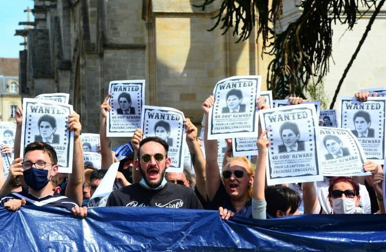 """Bordeaux's """"Ultramarines"""" supporter group staged a protest against club president Frederic Longuepee"""