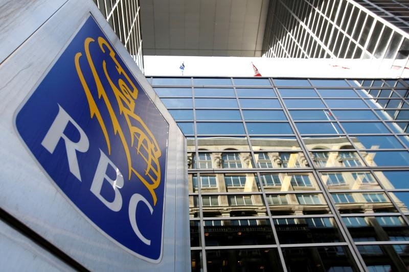 A Royal Bank of Canada (RBC) sign is seen outside of a branch in Ottawa, Ontario, Canada, May 26, 2016. REUTERS/Chris Wattie - RTX2EC7Q
