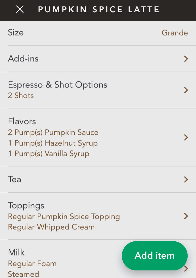 Starbucks Pumpkin Birthday Cake Latte - how to order