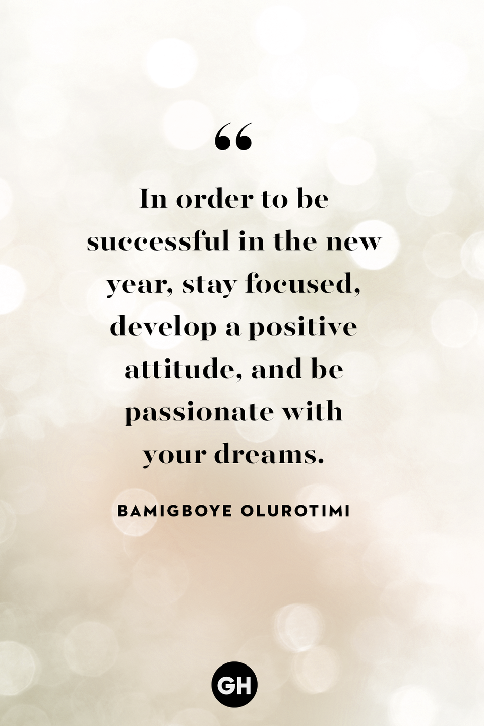 <p>In order to be successful in the new year, stay focused, develop a positive attitude and be passionate with your dreams.</p>