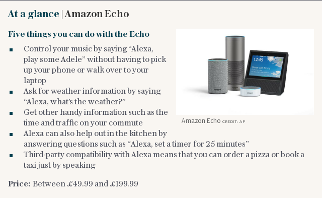 At a glance | Amazon Echo