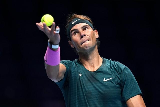 Rafael Nadal's serve was working very well against Andrey Rublev