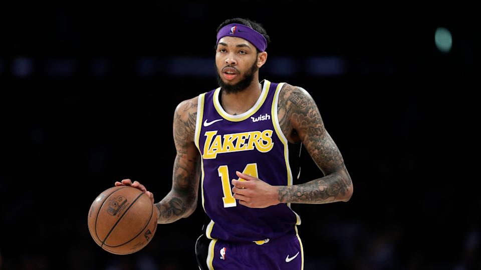 Los Angeles Lakers' Brandon Ingram during an NBA basketball game against the New Orleans Pelicans Wednesday, Feb. 27, 2019, in Los Angeles. (AP Photo/Marcio Jose Sanchez)