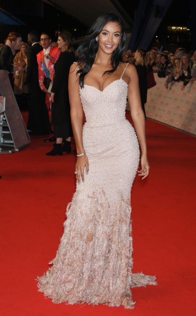 <p>Maya Jama looked incredible on the red carpet in a heavily-embroidered custom-made dress by AloNuko. <em>[Photo: Getty]</em> </p>