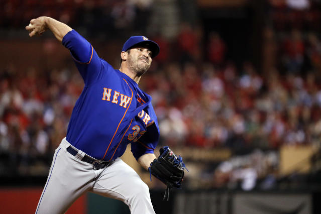 "New York Mets pitcher Matt Harvey didn't ""[expletive] want to"" talk to reporters after making his bullpen debut on Tuesday night in St. Louis. (AP Photo/Jeff Roberson)"