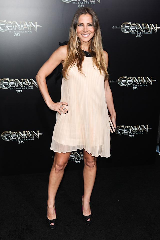 """<a href=""""http://movies.yahoo.com/movie/contributor/1804504141"""">Elsa Pataky</a> at the Los Angeles premiere of <a href=""""http://movies.yahoo.com/movie/1809953260/info"""">Conan the Barbarian</a> on August 11, 2011."""