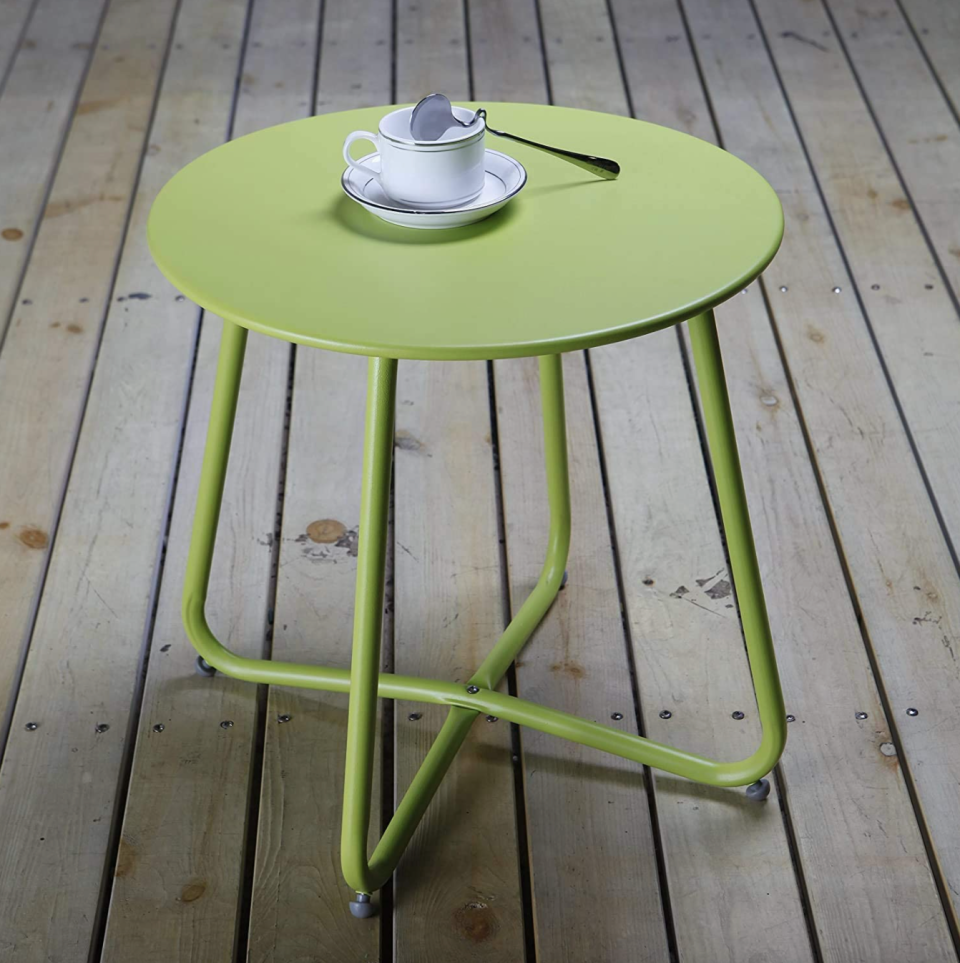 Aoboco Patio Side Table in Lime Green (Photo via Amazon)
