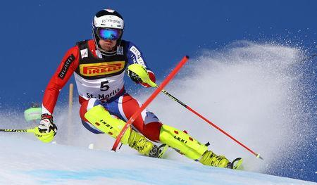 FILE PHOTO: Alpine Skiing - FIS Alpine Skiing World Championships - Men's Special Slalom - St. Moritz, Switzerland - 19/2/17 - Dave Ryding of Great Britain in action. REUTERS/Stefano Rellandini/File Photo