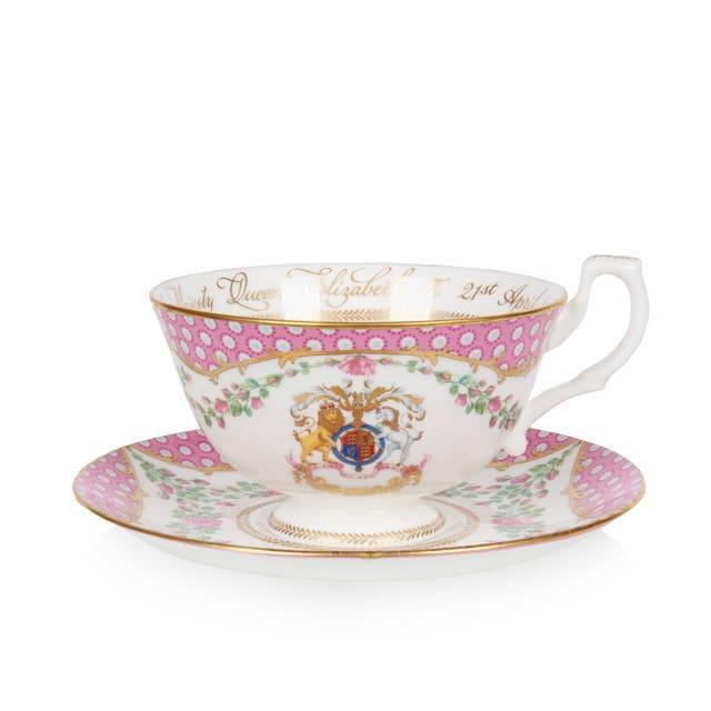 Tea cup and saucer from the official range of china