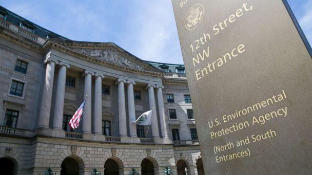 PHOTO: The exterior of the headquarters of the United States Environmental Protection Agency (EPA) in downtown Washington, D.C., April 2, 2017. (Kristoffer Tripplaar/Sipa via AP)