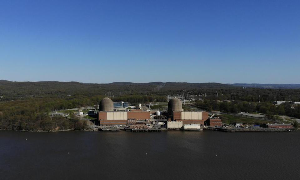 Indian Point Energy Center is seen on the Hudson River.