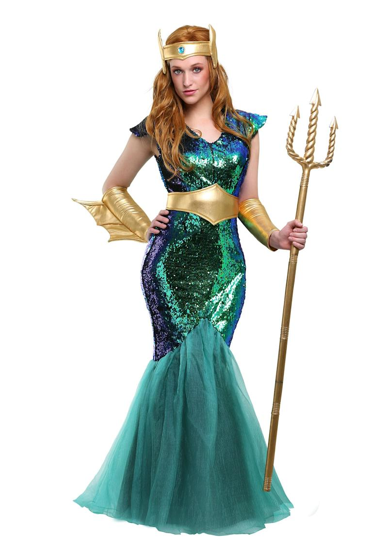 df29457f6c6 Halloween Costumes Sea Siren Costume ($70): You had us at gold, sequins,  and tulle. Oh, and we're always down to rule the sea!