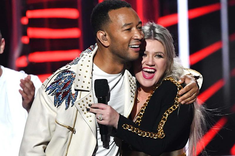 Change of tune: Legend has rewritten and recorded the song with Kelly Clarkson (Getty Images)