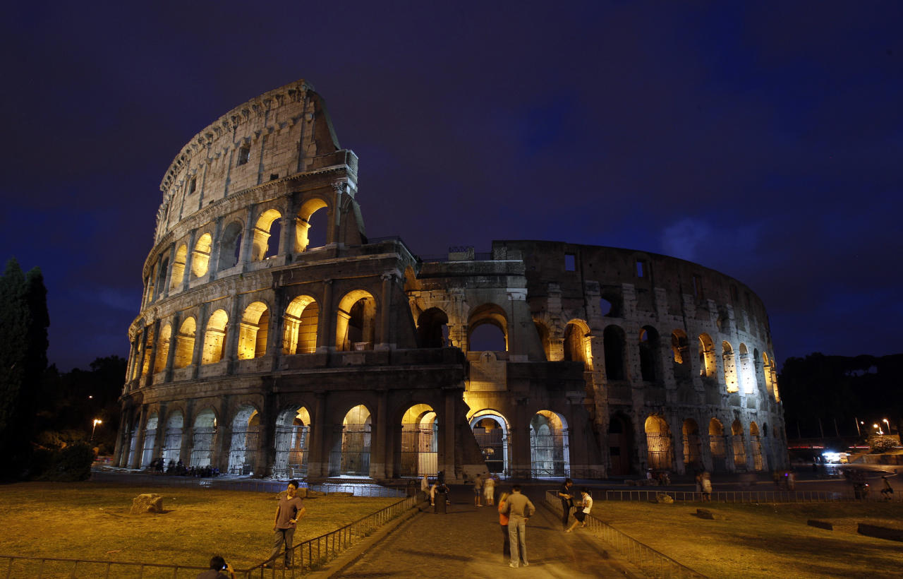 A view of Rome's ancient Colosseum as seen August 5, 2010. REUTERS/Tony Gentile