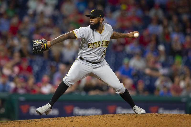 Felipe Vazquez has been arrested on computer pornography charges that involve a child. (Photo by Mitchell Leff/Getty Images)