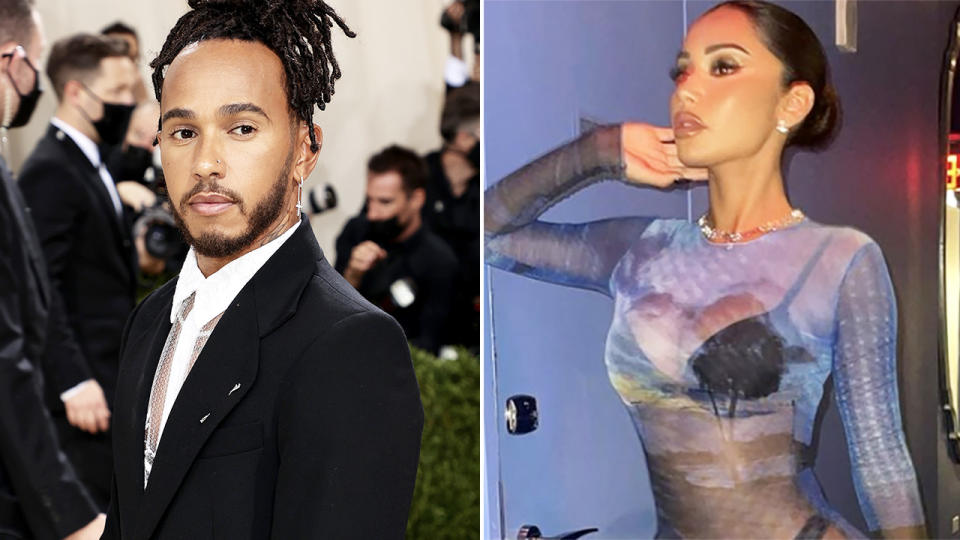 Lewis Hamilton and Janet Guzman, pictured here in New York.
