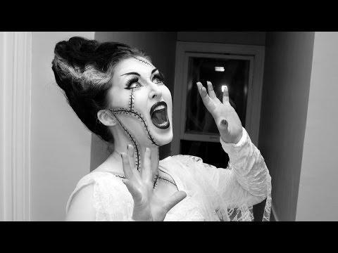 """<p>No Bride of Frankenstein would be complete without the legendary cone of white-streaked hair, and this quickie lesson includes instructions on how to create it.</p><p><a class=""""link rapid-noclick-resp"""" href=""""https://www.amazon.com/High-Beams-Intense-Temporary-Spray/dp/B00IIROWLU/ref=pd_lpo_79_t_2/130-1467464-0218303?tag=syn-yahoo-20&ascsubtag=%5Bartid%7C10050.g.34087783%5Bsrc%7Cyahoo-us"""" rel=""""nofollow noopener"""" target=""""_blank"""" data-ylk=""""slk:SHOP WHITE HAIR SPRAY"""">SHOP WHITE HAIR SPRAY</a></p><p><a href=""""https://www.youtube.com/watch?v=jV75pZM71i8"""" rel=""""nofollow noopener"""" target=""""_blank"""" data-ylk=""""slk:See the original post on Youtube"""" class=""""link rapid-noclick-resp"""">See the original post on Youtube</a></p>"""