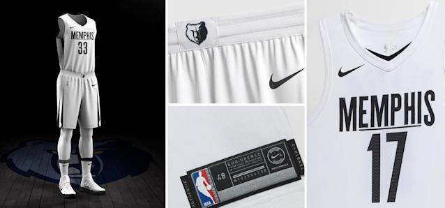 Memphis Grizzlies City uniform. (Nike)