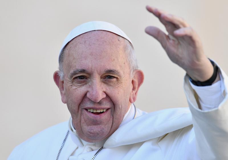 Pope Francis has made interfaith dialogue and reconciliation a leading theme of his pontificate (AFP Photo/VINCENZO PINTO)