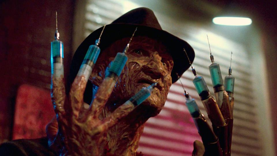 """<p><strong><em>A Nightmare on Elm Street 3: Dream Warriors</em></strong></p><p>A group of mental hospital patients band together to learn how to control their nightmares — and the killer that lurks inside of the dream world.</p><p><a class=""""link rapid-noclick-resp"""" href=""""https://www.amazon.com/Nightmare-Elm-Street-Dream-Warriors/dp/B0049Z1I4Y/?tag=syn-yahoo-20&ascsubtag=%5Bartid%7C10055.g.29120903%5Bsrc%7Cyahoo-us"""" rel=""""nofollow noopener"""" target=""""_blank"""" data-ylk=""""slk:WATCH NOW"""">WATCH NOW</a></p>"""