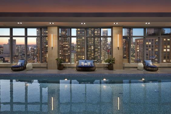 Pool with a view: the Mandarin Oriental (George Apostolidis)