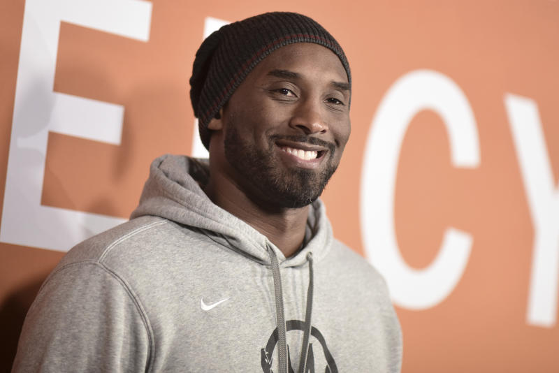 "Kobe Bryant attends the LA premiere of ""Just Mercy"" at Cinemark Baldwin Hills on Monday, Jan. 6, 2020, in Los Angeles. (Photo by Richard Shotwell/Invision/AP)"