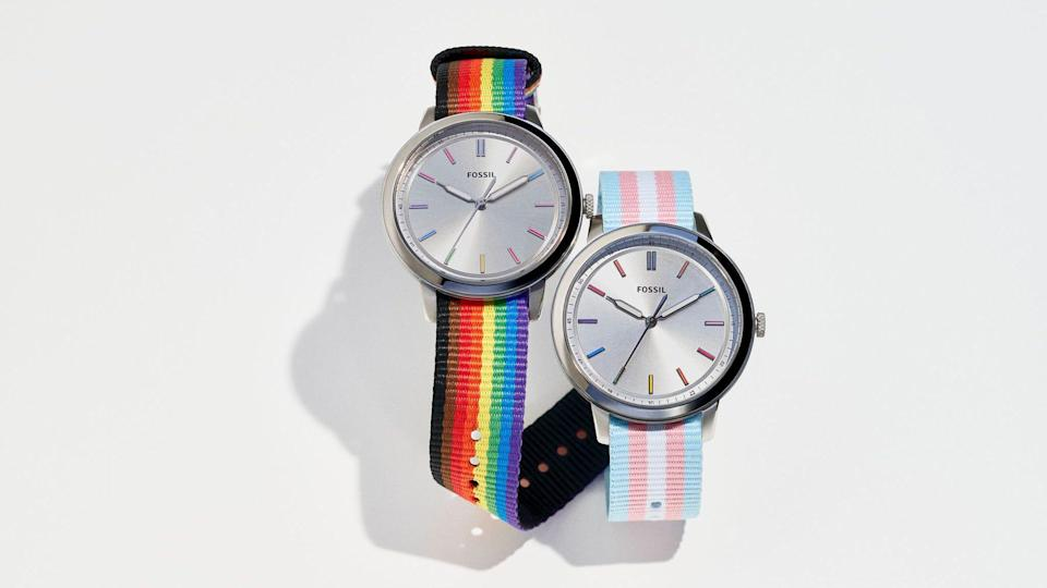 The Minimalist 40mm watch gets a rainbow flag makeover this year.