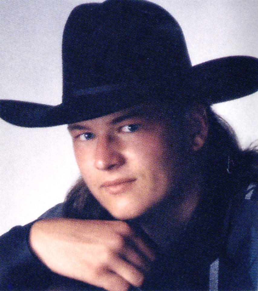 <p>Even in his senior year high school portrait, country singer Blake Shelton is rocking the cowboy hat. <i>(Photo: Seth Poppel/Yearbook Library)</i></p>