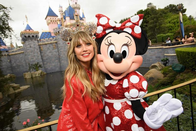 Disneyland fans such as Heidi Klum can buy tickets now at a discount. (Photo: Richard Harbaugh/Disneyland Resort via Getty Images)