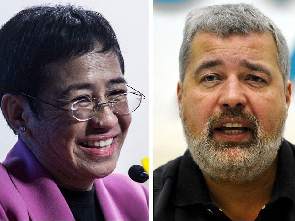 Journalists Dmitry Muratov and Maria Ressa have been awarded the Nobel Peace Prize 2021 (AFP/Getty)
