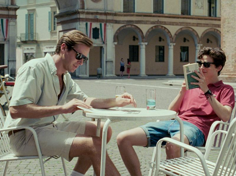 Armie Hammer (left) and Timothée Chalamet in 'Call Me By Your Name'Sony
