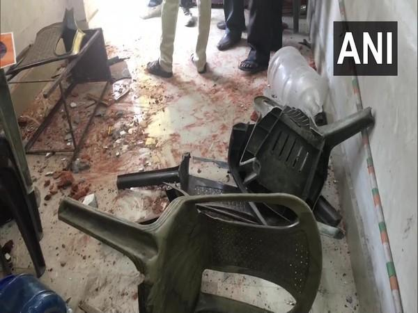 Visuals from the vandalised BJP office in Asansol. (Photo/ANI)